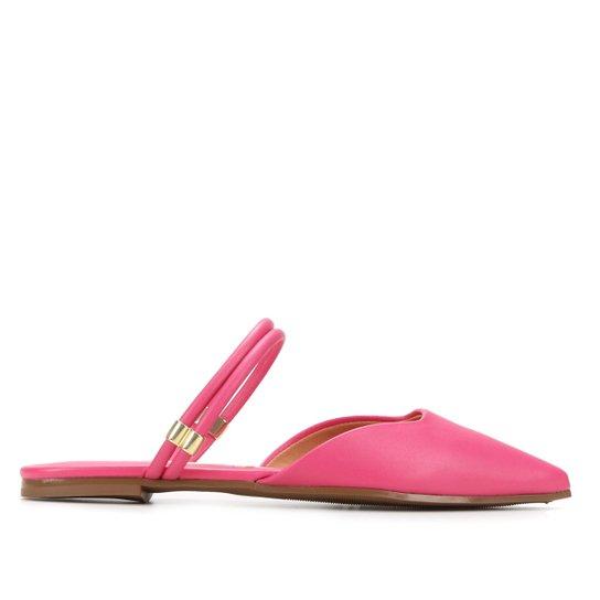Mule Vizzano Tira Dupla Bico Fino - Pink
