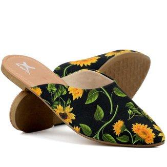 Mule Yes Basic Bico Fino Confortável Floral Feminino