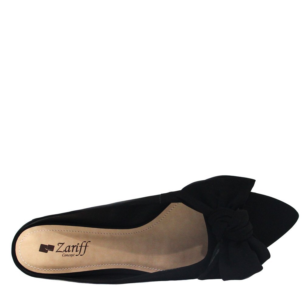 Mule Shoes Feminino Mule Zariff Preto Zariff Laço Shoes BwgHqpB