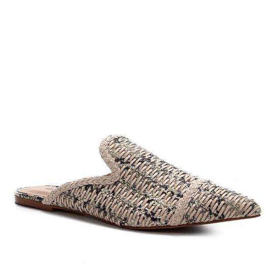 Mules Couro Shoestock Flat Handmade - Off White