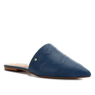 Mules Shoestock Flat Couro Matelasse