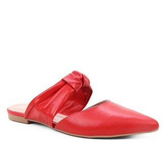 Mules Shoestock Flat Soft Couro