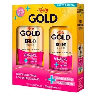 Niely Gold Brilho Absoluto Kit – Shampoo + Condicionador Kit