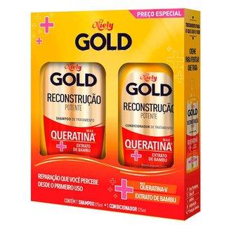 Niely Gold Reconstrução Potente Kit – Shampoo + Condicionador Kit