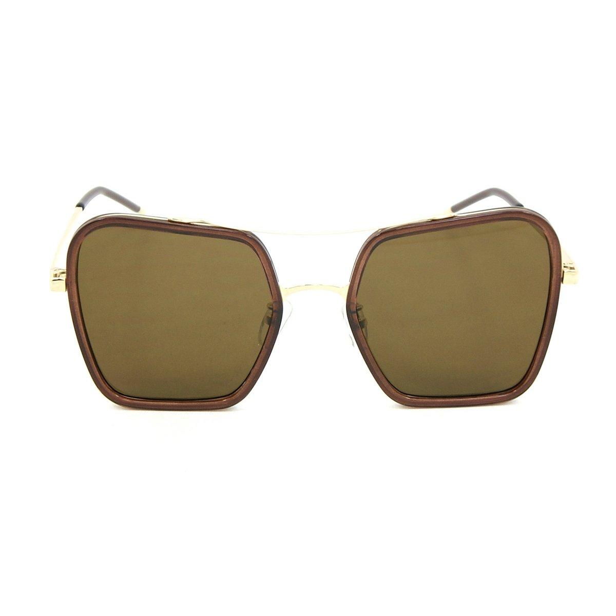 Óculos Bijoulux Quadrado e - Marrom
