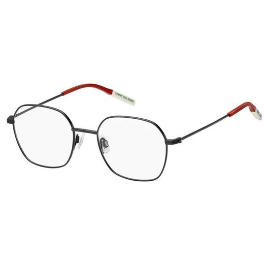 Óculos de Grau Tommy Hilfiger Jeans TJ 0014 -  50 - Preto - Preto