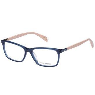 Óculos de Grau Victor Hugo VH1723 0U36/53 Azul/Bege