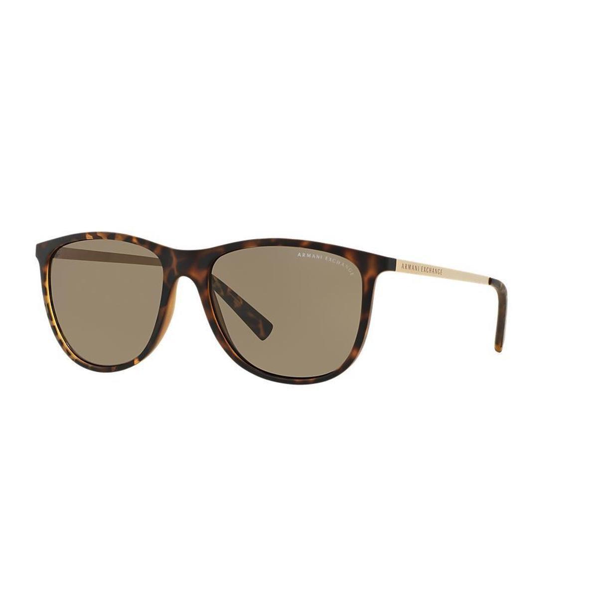 211e7c9227b4d Óculos de Sol Armani Exchange Quadrado AX4047SL Masculino - Marrom ...