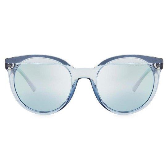 Óculos de Sol Armani Exchange Transparente Feminino - Azul