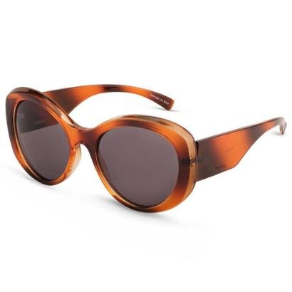 Óculos de Sol Arredondado em Acetato