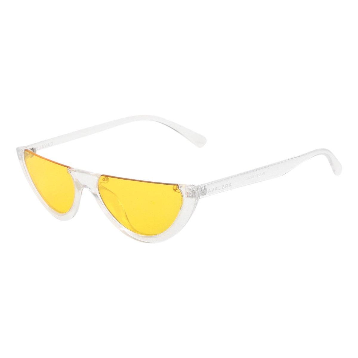 Óculos De Sol Cavalera Gatinho MG0002 Masculino - Amarelo