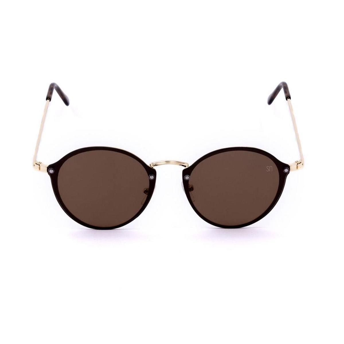Óculos de Sol Classic Redondo - Marrom - Compre Agora   Zattini 7541dba912