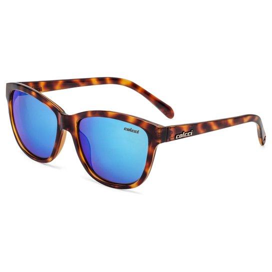 Óculos de Sol Colcci Sharon Tartaruga Feminino - Amarelo