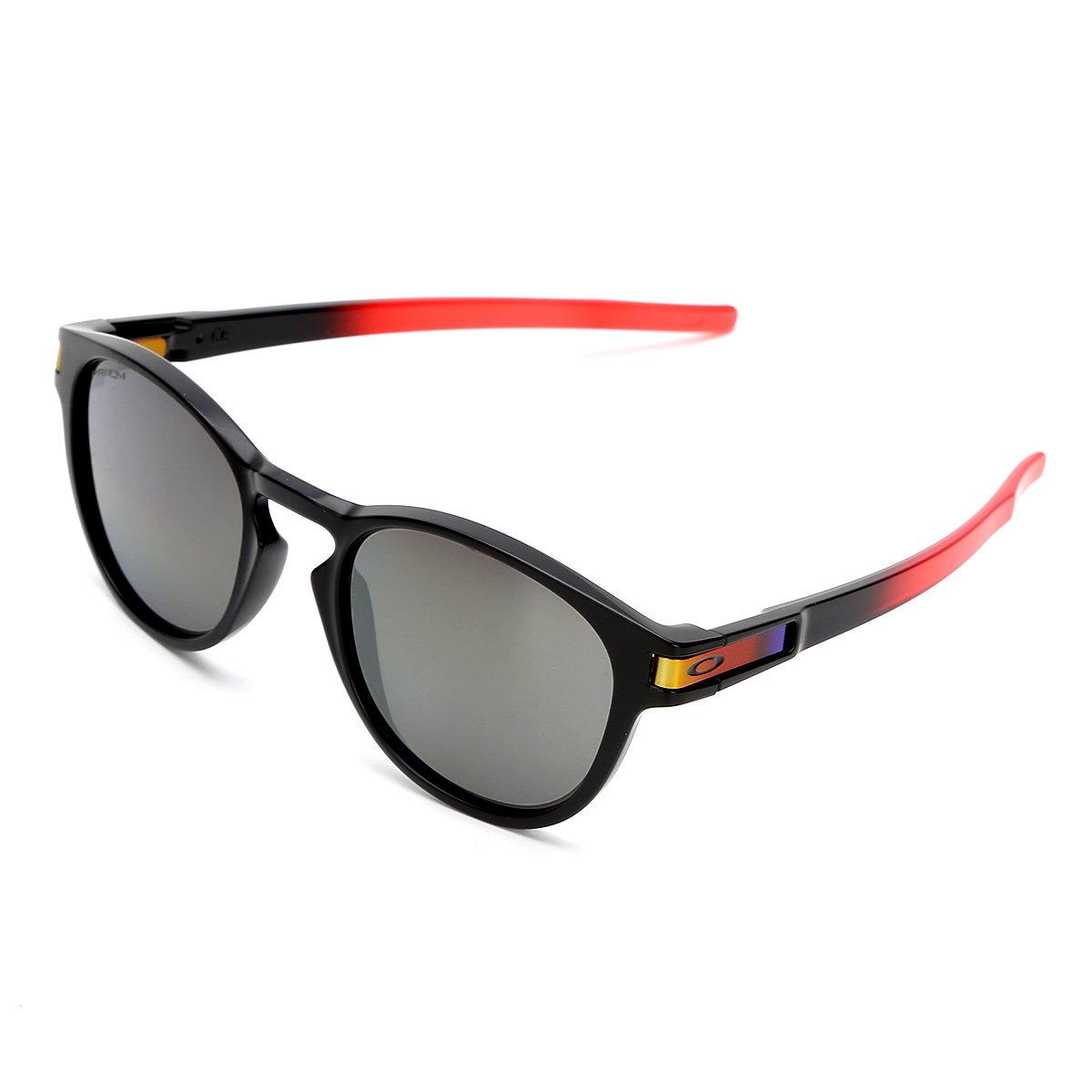 141856d25 Óculos de Sol de Sol Oakley Latch Masculino - Vermelho   Zattini