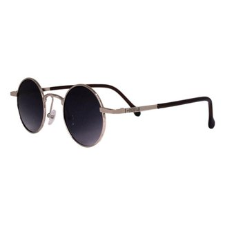 Óculos de Sol Díspar D2269 Redondo Skinny - Dourado
