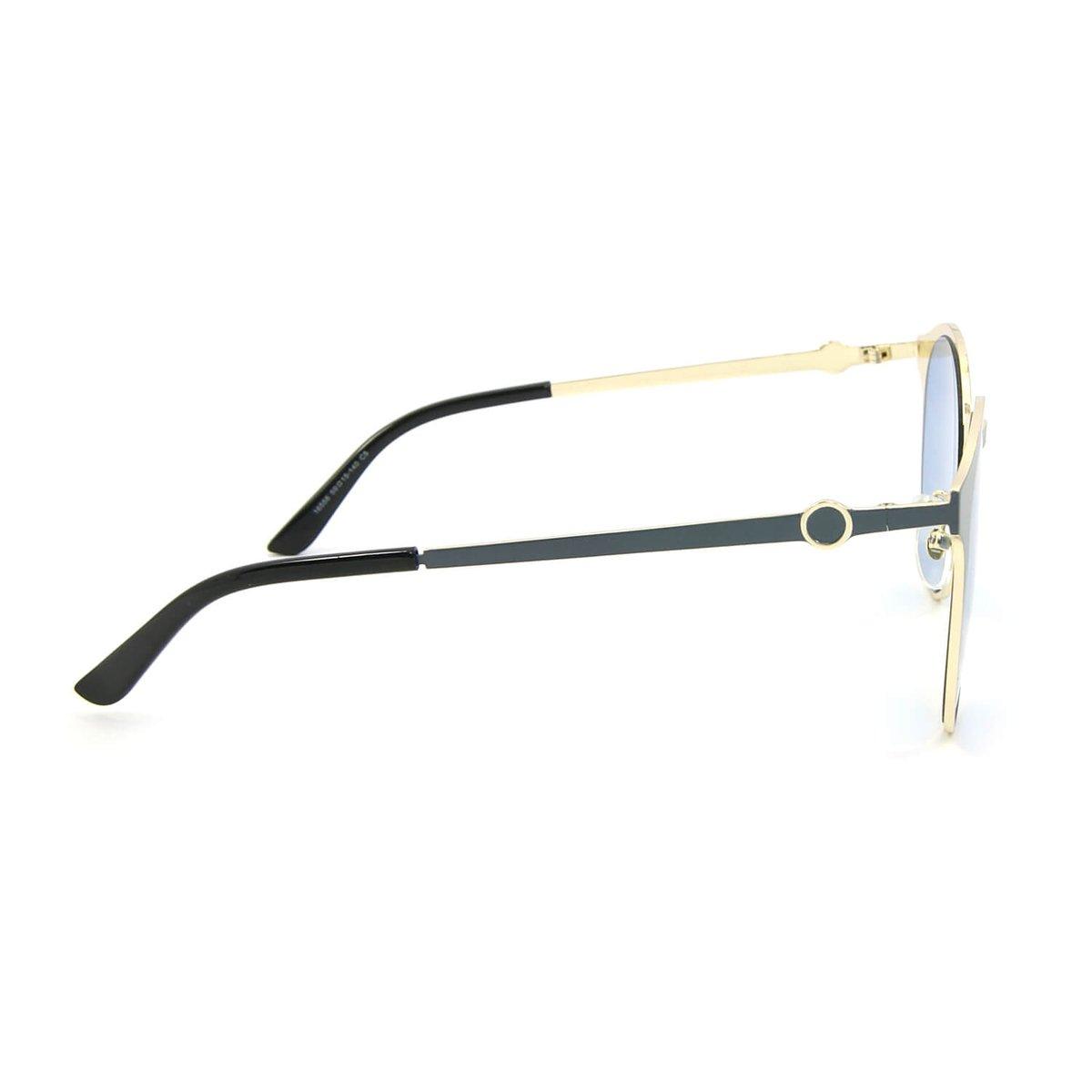 Óculos de Sol Dourado e com Lente - Azul