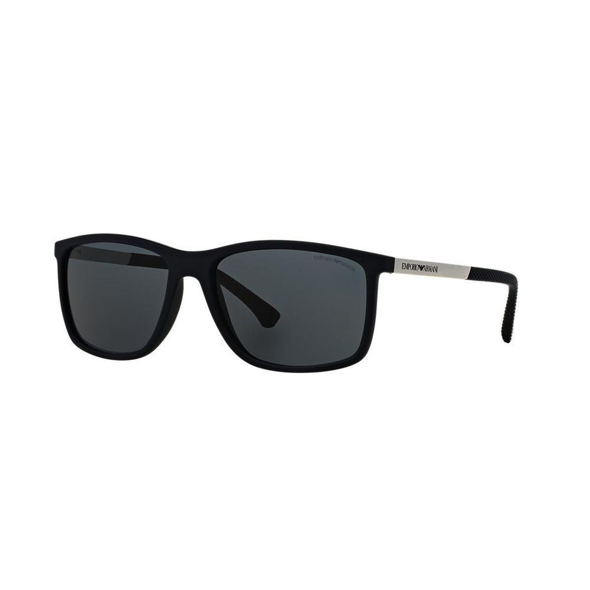 Óculos de Sol Emporio Armani Retangular EA4058 Feminino - Preto ... 90bbff5cb2