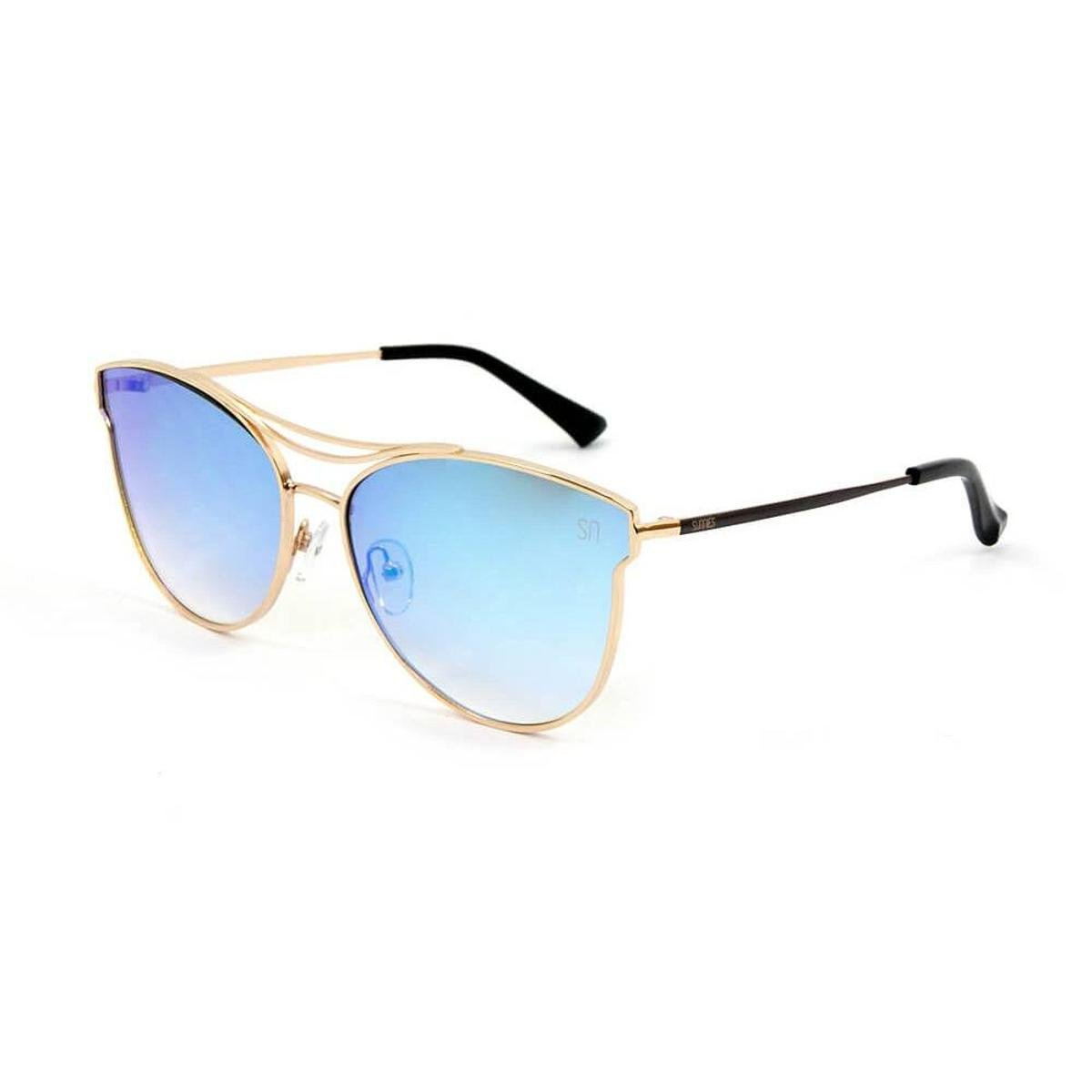 Óculos de Sol Espelhado - Azul e Dourado - Compre Agora   Zattini a521dd0bf7