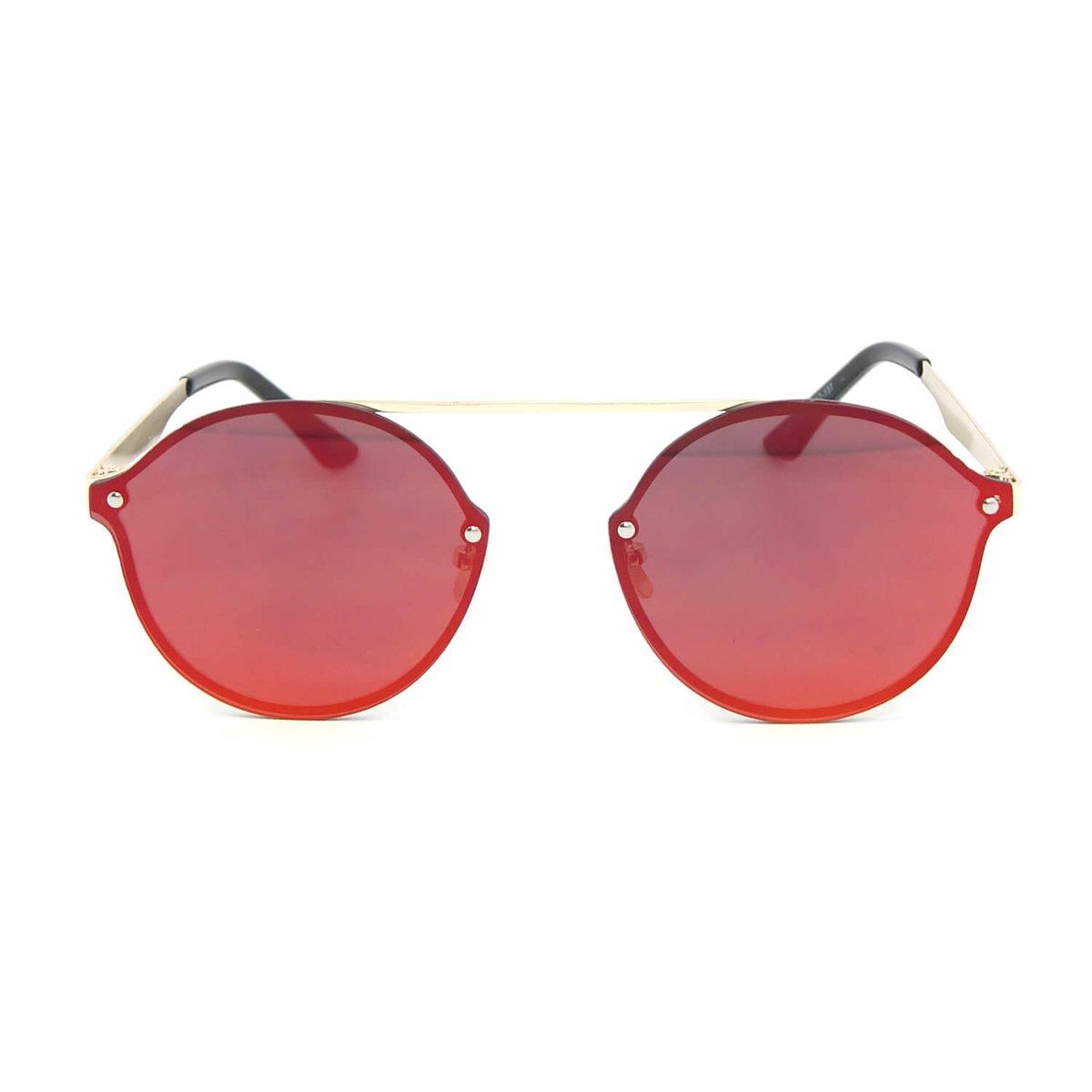 Óculos de Sol Estilo Flat com Lente Espelhada - Compre Agora   Zattini 006254d666