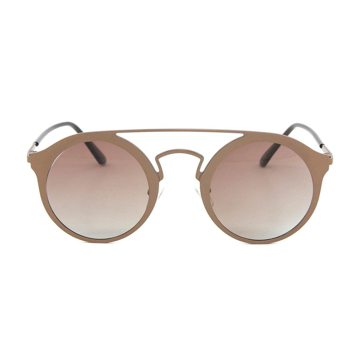 cbe2a882046fc Óculos de Sol Estilo Top Bar Redondo - Marrom - Compre Agora   Zattini