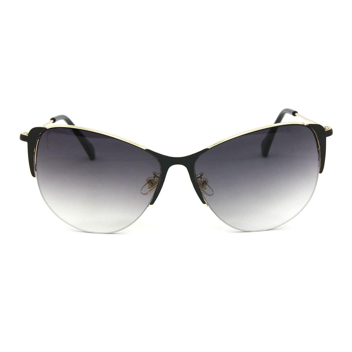 Óculos de Sol Gatinha Glamour Lente Degradê - Preto - Compre Agora ... ca8d97482b