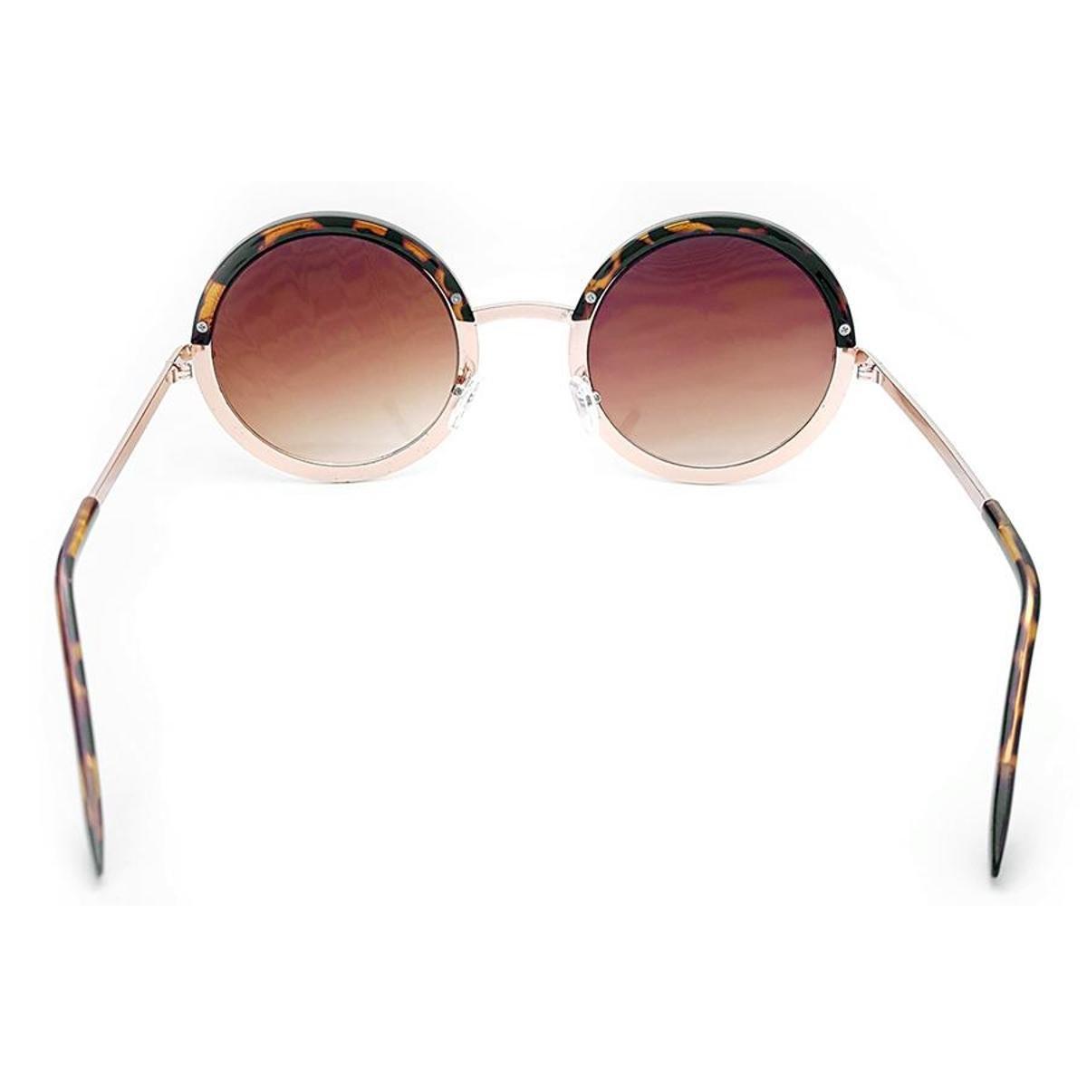 93007611752dc ... Óculos de Sol Gio Antonelli Tartaruga e Dourado Lente Marrom Degradê  Feminino