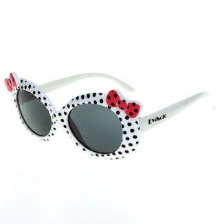 Óculos De Sol Infantil Eva Solo  De Bolinhas Com Laço  Feminino