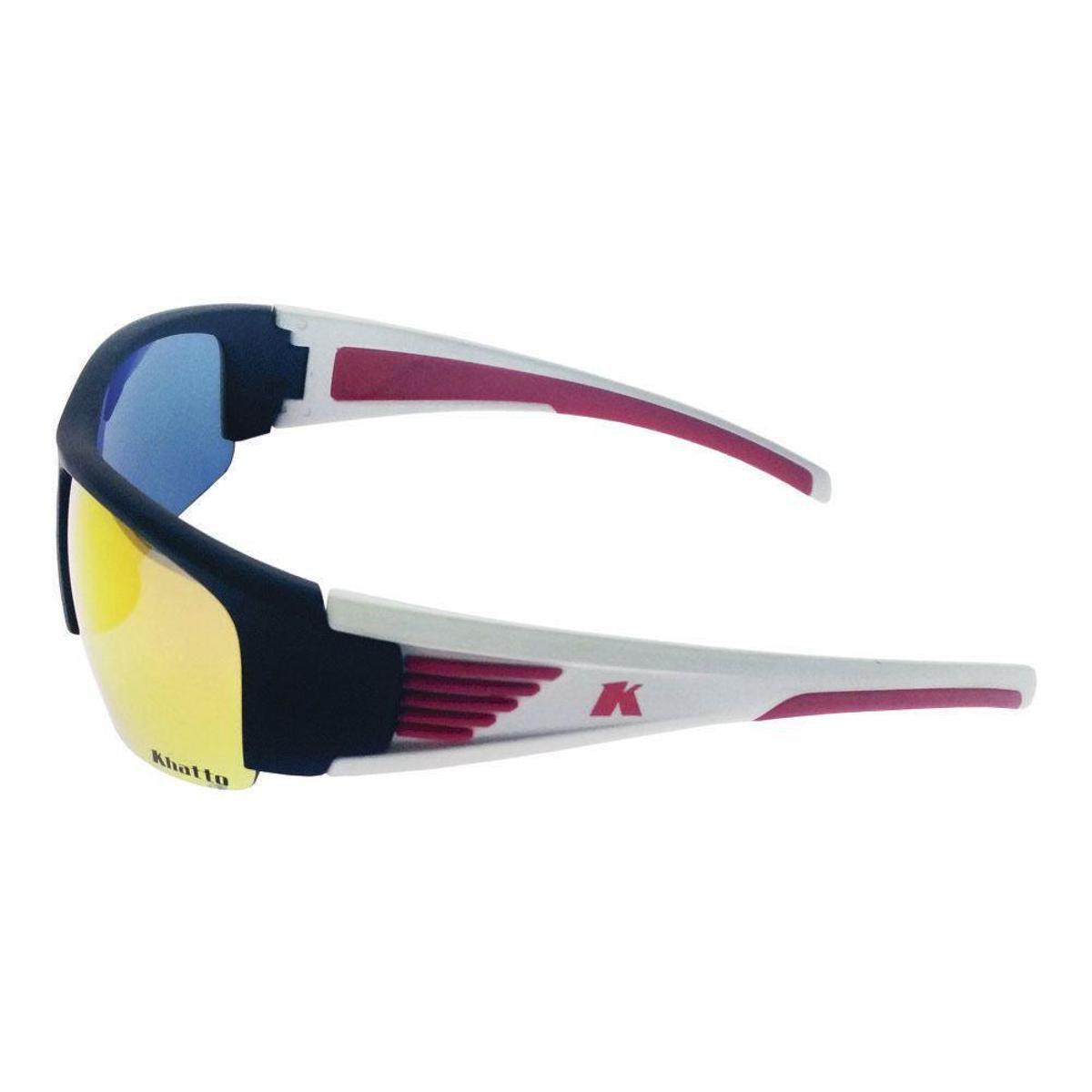Óculos de Sol Khatto Esportivo Wings Masculino - Preto e Branco ... 1c40a02882