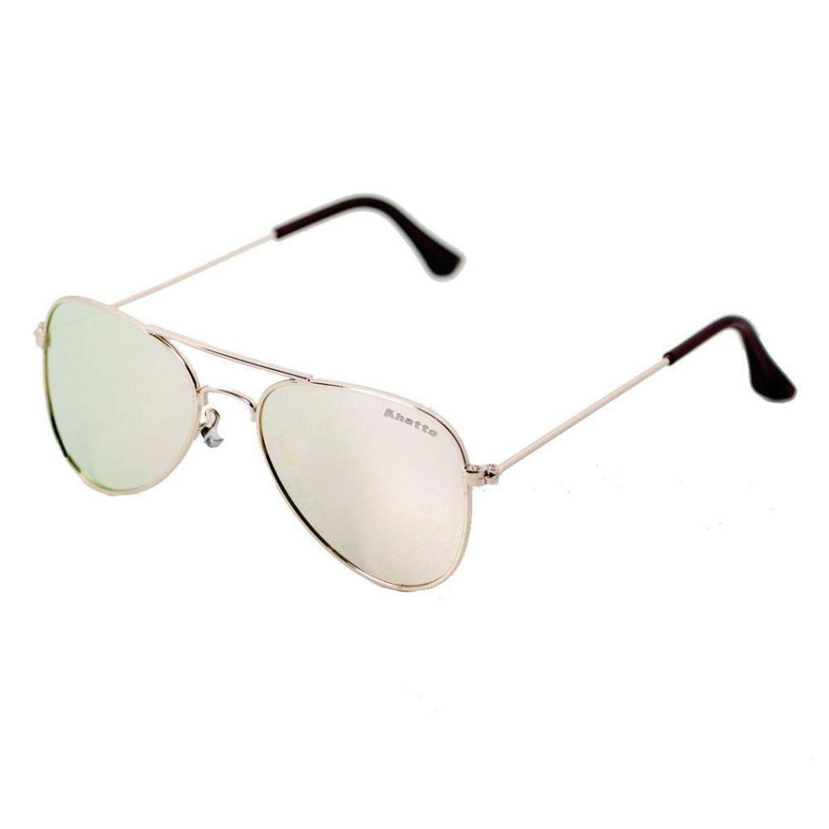 0fe44ed685007 Óculos de Sol Khatto Infantil Aviador Station Feminino - Rosa e ...