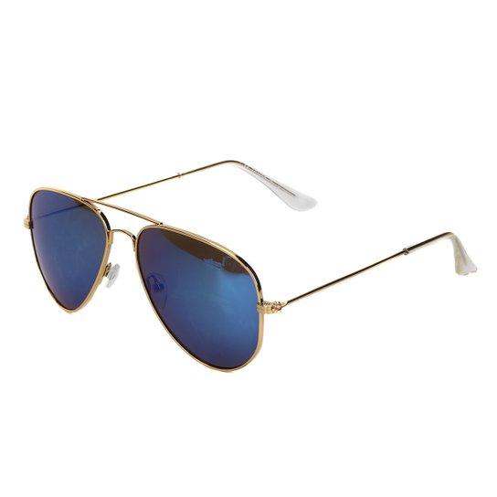 Óculos de Sol King One J02 - Dourado+Azul