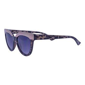 Óculos de Sol Mackage Feminino Acetato Gateado Retrô - Tarta Escuro