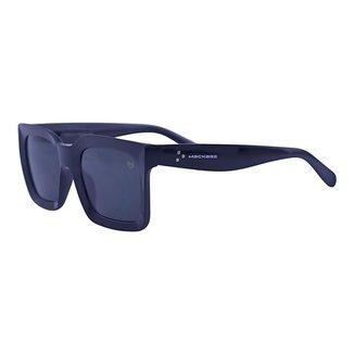 Óculos de Sol Mackage Unissex Acetato Retangular - Preto