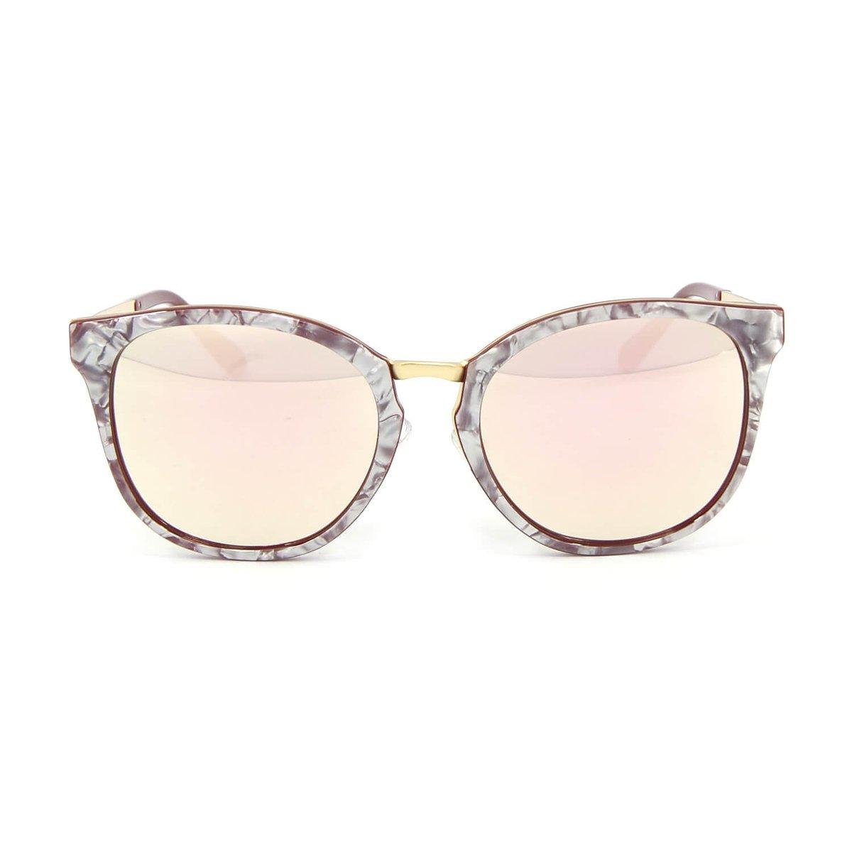 Óculos de Sol Marmorizado Lente espelhada - Compre Agora   Zattini 2dee75cc96