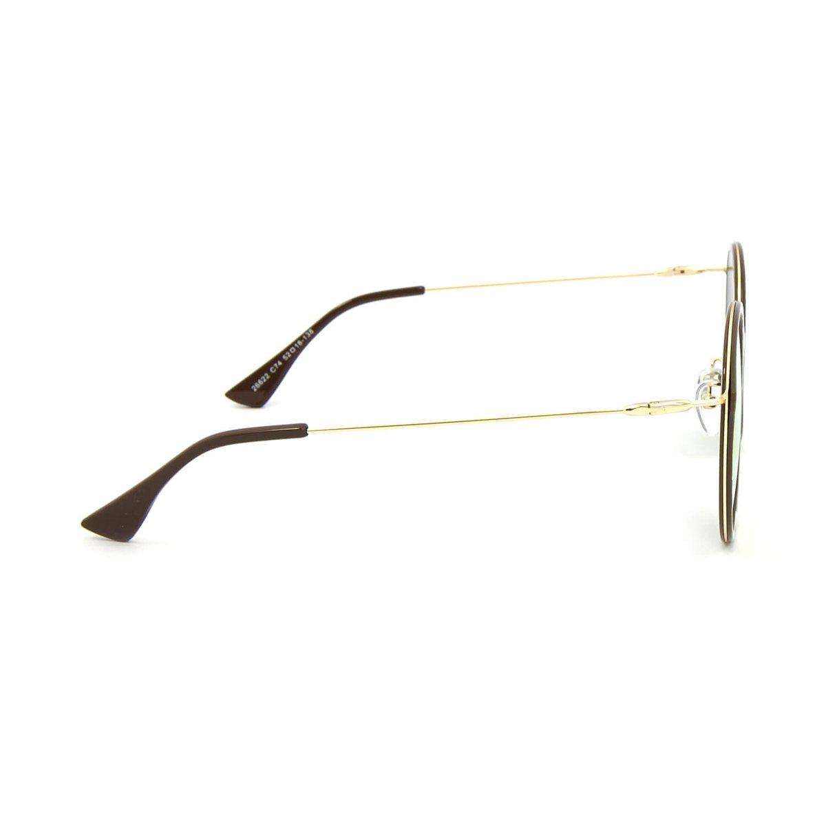 a8e0f21c12d79 Óculos de Sol Marmorizado Redondo Lente Espelhada - Rosa - Compre ...