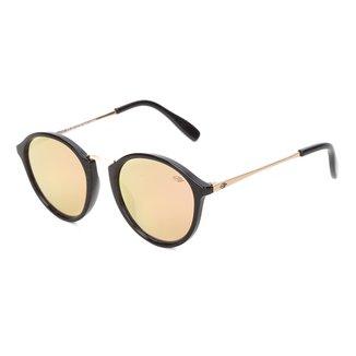 Óculos De Sol Mormaii Cali Preto Brilho Lente Marrom Revo