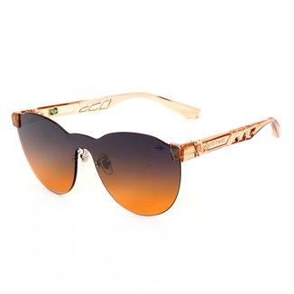 Óculos De Sol Mormaii Fabi Nude Translucido Brilho