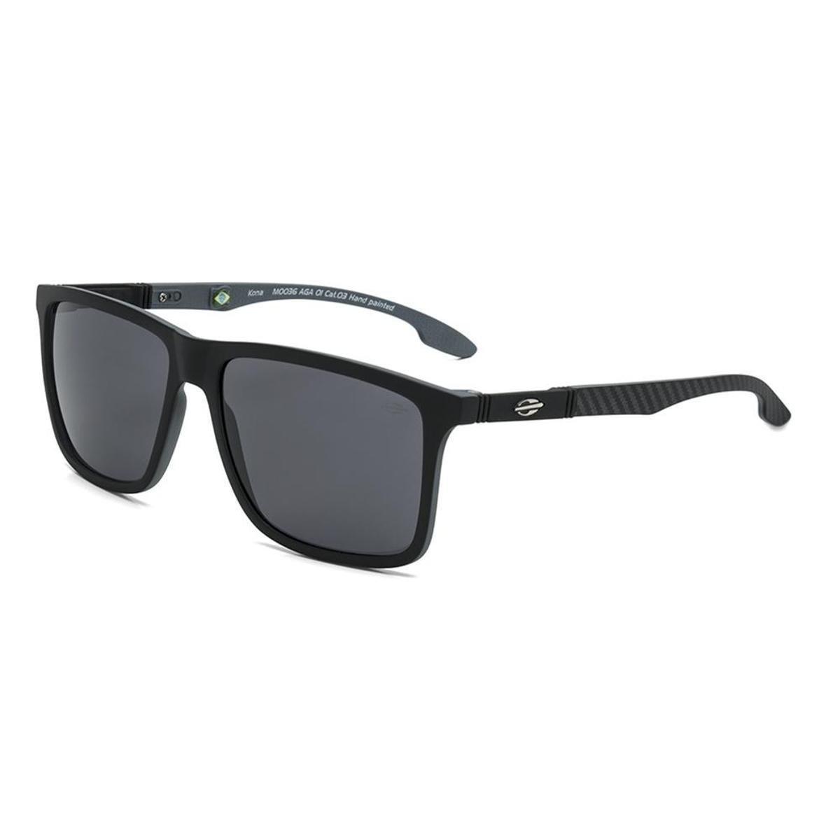 Óculos De Sol Mormaii Kona - Preto e Cinza - Compre Agora   Zattini f041de0947
