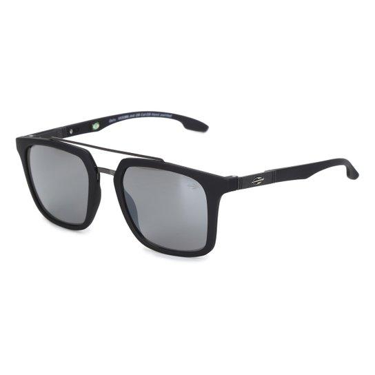 Óculos de Sol Mormaii Oahu Masculino M0086A1409 - Preto+Prata