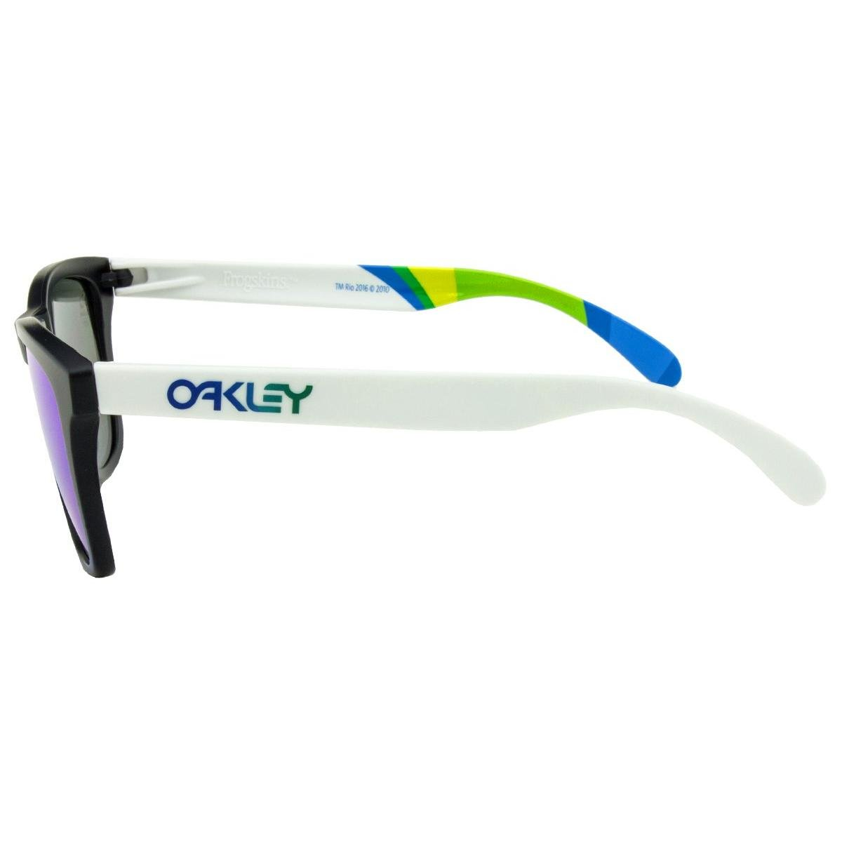 ... Óculos de Sol Oakley Frogskins OO9013 Brazil Olympics Collection -  Matte Black Matte White  ... fda3cbaf57