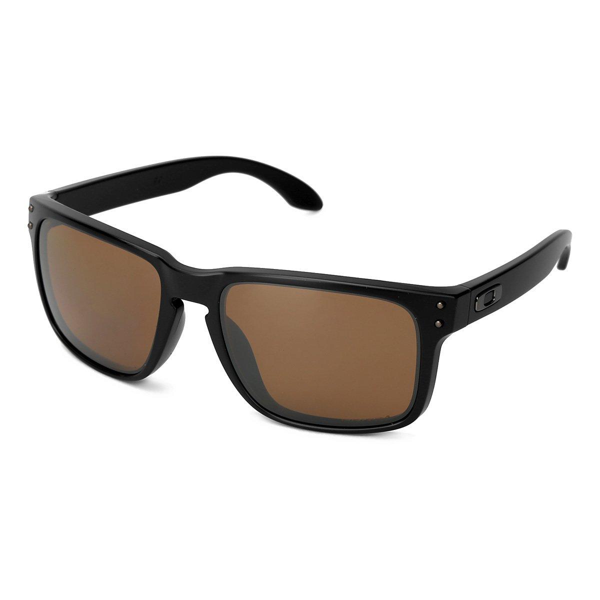 6651602186684 Óculos de Sol Oakley Holbrook Masculino - Marrom e Preto - Compre ...