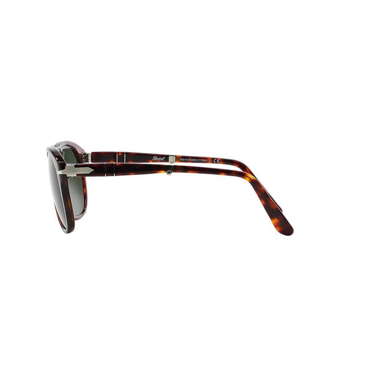 9f77217be34a7 Óculos de Sol Persol Piloto PO0714 Dobrável Masculino - Marrom ...