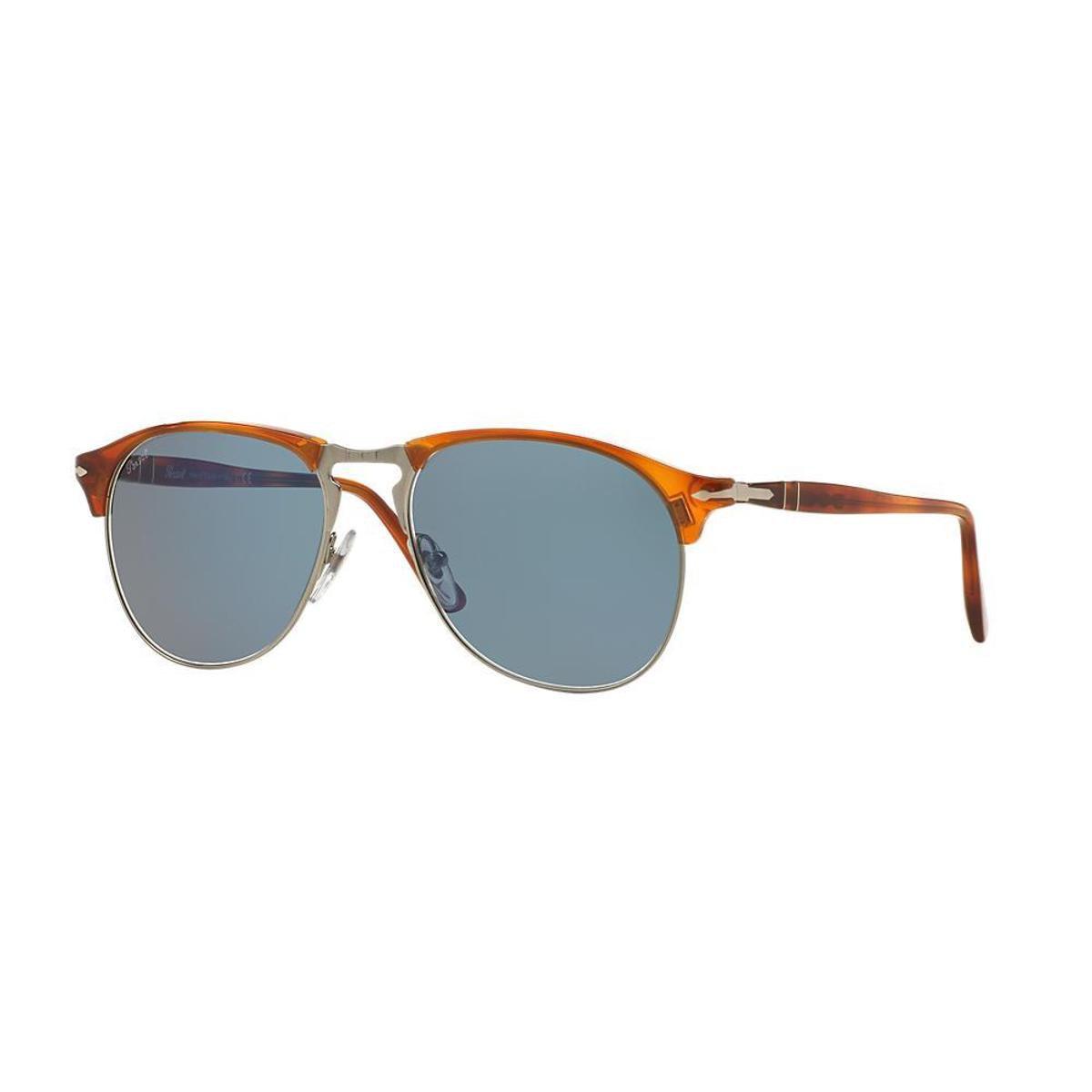 Óculos de Sol Persol Piloto PO8649S Masculino - Cinza - Compre Agora ... 21a1f62be5