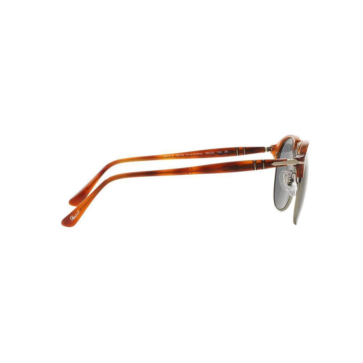 Óculos de Sol Persol Piloto PO8649S Masculino - Caramelo - Compre ... 1bde23e913