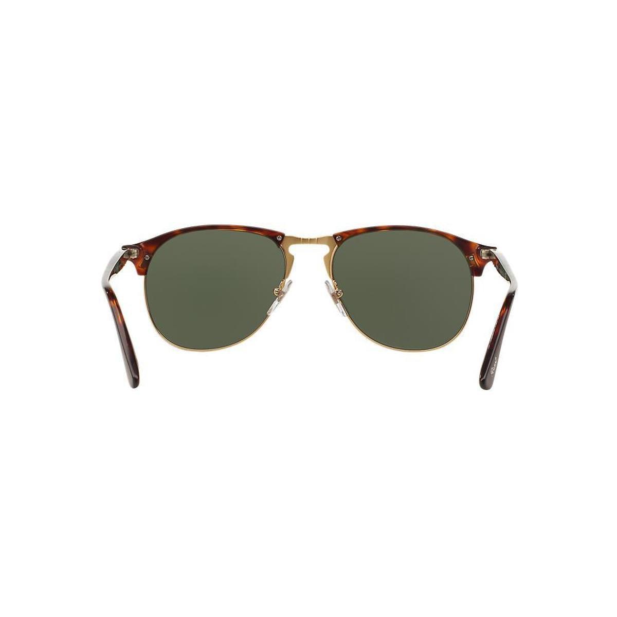 1ef1a593aab1e Óculos de Sol Persol Piloto PO8649S Masculino - Marrom - Compre ...
