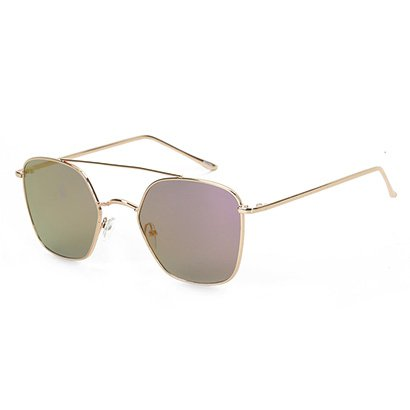 Óculos de Sol Polo London Club Geométrico Espelhado Feminino