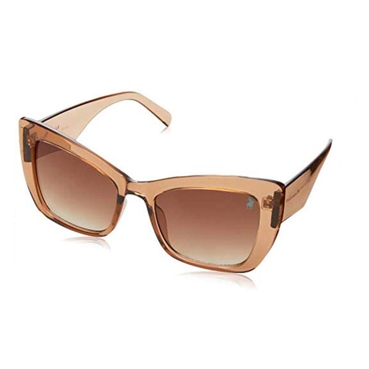 Óculos de Sol Polo London Club NYD 183 Feminino - Marrom Escuro