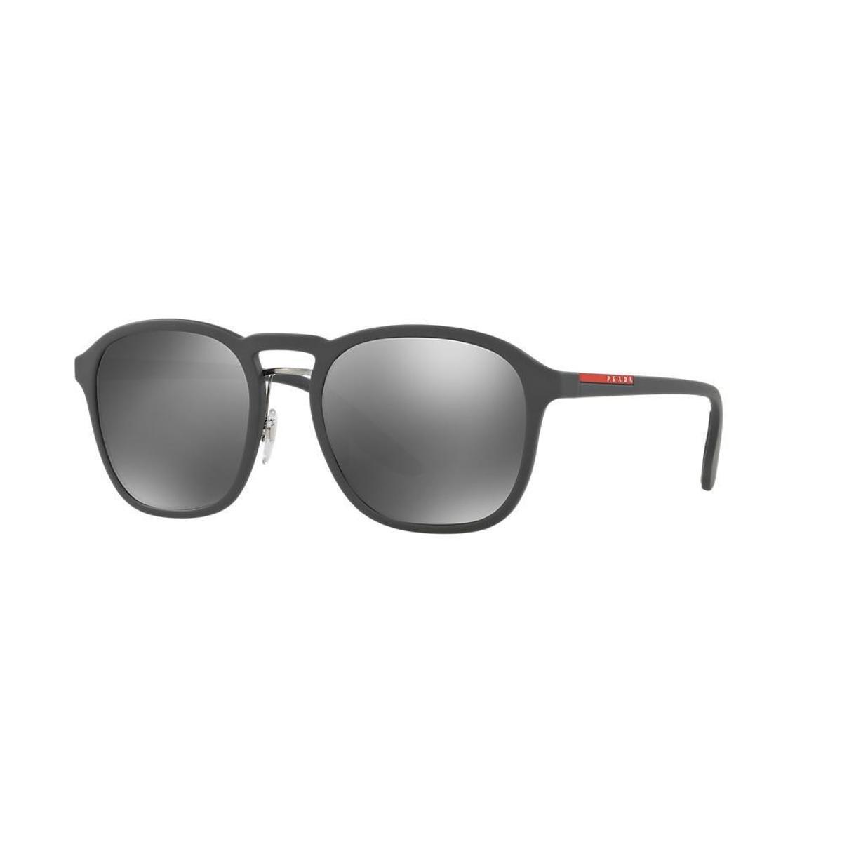 Óculos de Sol Prada Linea Rossa Redondo PS 02SS Masculina - Preto e ... cb85de49eb