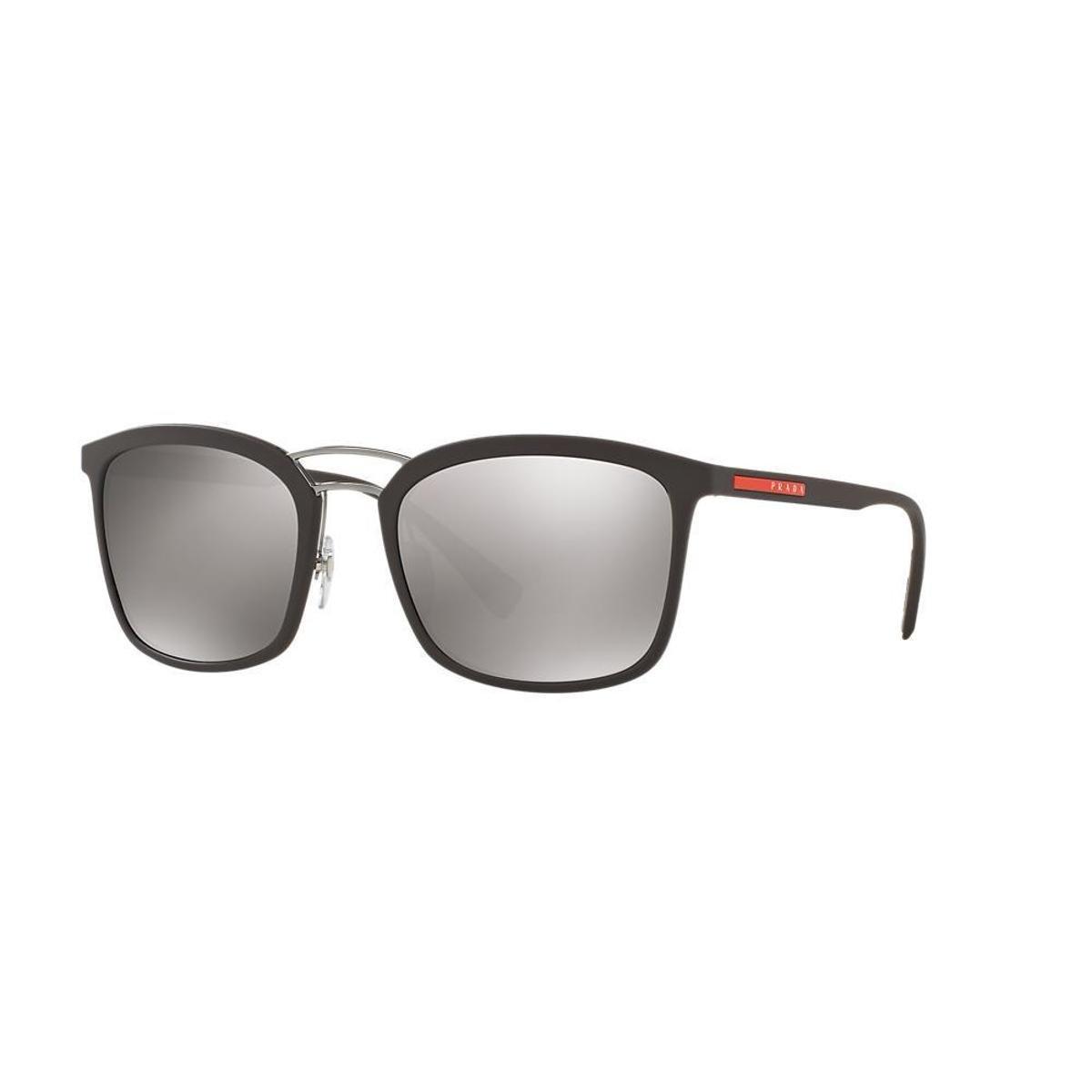 Óculos de Sol Prada Linea Rossa Retangular PS 03SS Masculina - Preto ... 023b86acbb