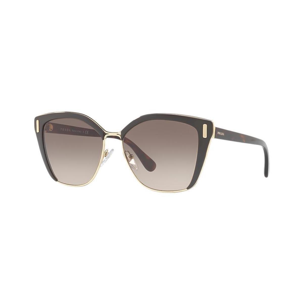 ... f27d5bc2f9e Óculos de Sol Prada Quadrado PR 56TS Feminino - Marrom -  Compre . a693f896c4