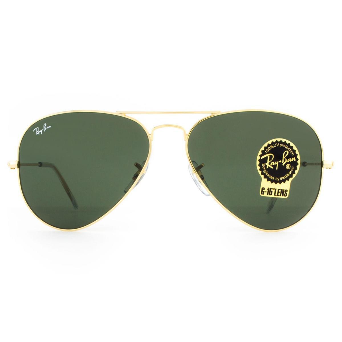 Óculos de Sol Ray Ban Aviator Classic RB3025L L0205-58 Masculino ... e6fe87b9bf